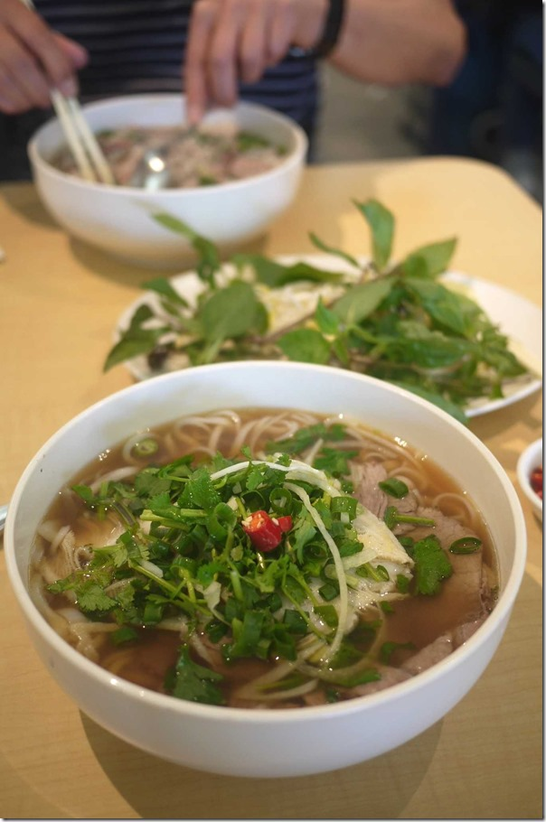Pho with cooked beef and tripe (Large size) $14