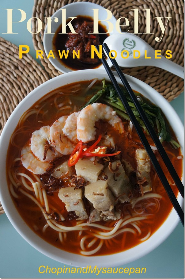 Pork Belly Prawn Noodle