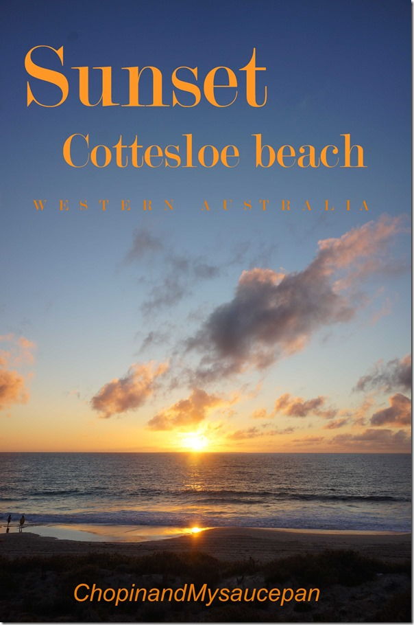 Sunset Cottesloe beach
