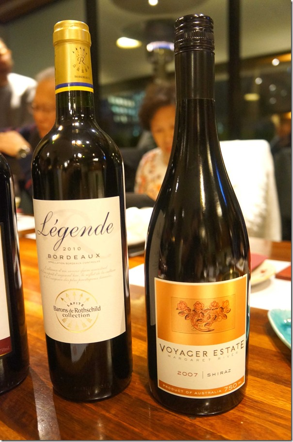 2010 Legende Bordeaux & 2007 Voyager Estate Shiraz