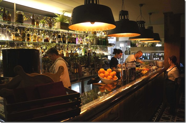 Cocktail bar at La Scala, Woollahra