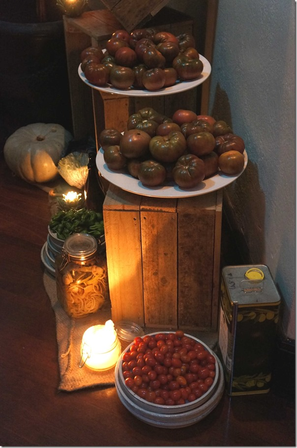 Fresh heirloom and cherry tomatoes