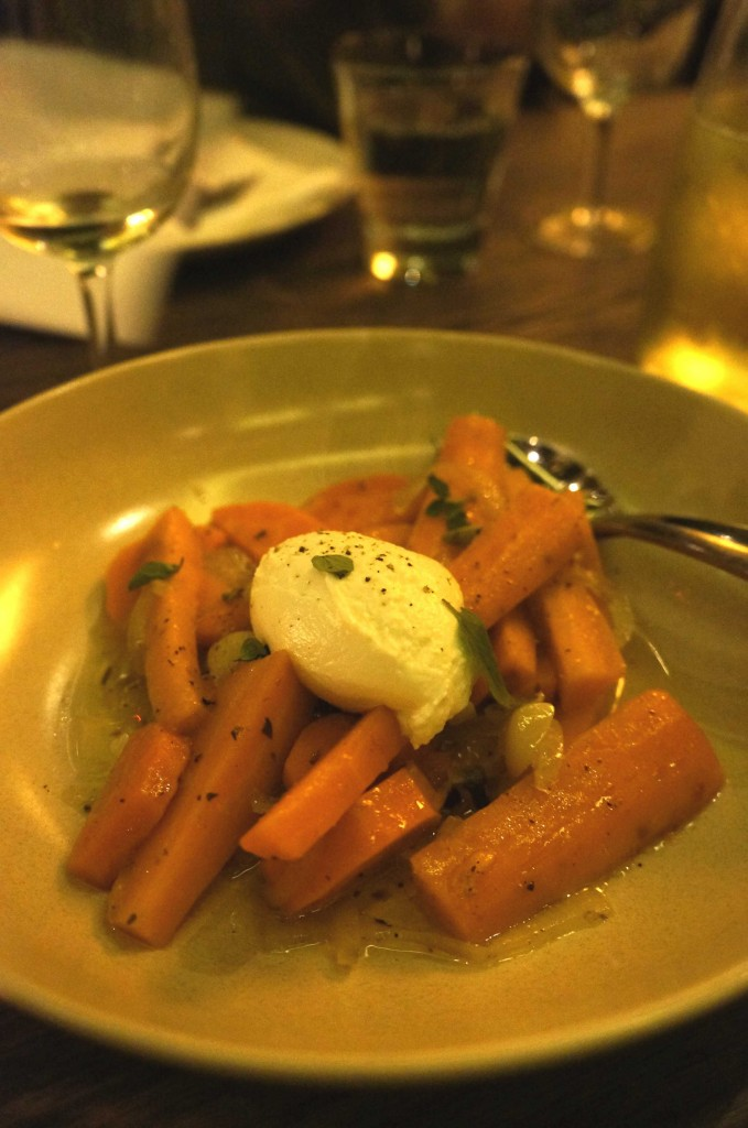 Mamma Maria's pickled carrots, goat's curd, oregano and mint $15