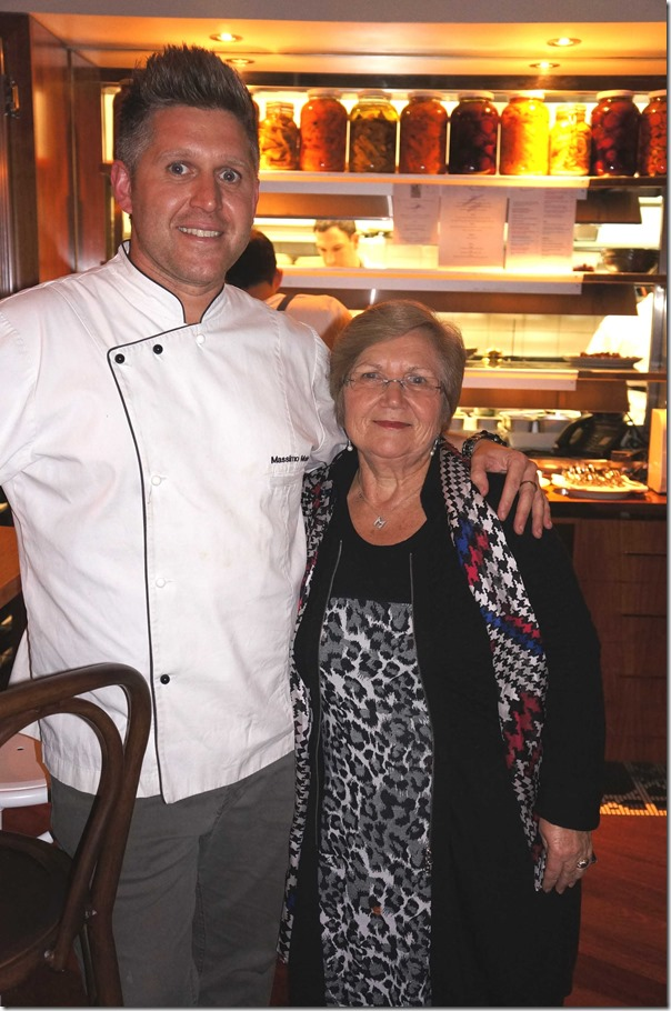 Chef Massimo Mele with his mother, Mamma Maria