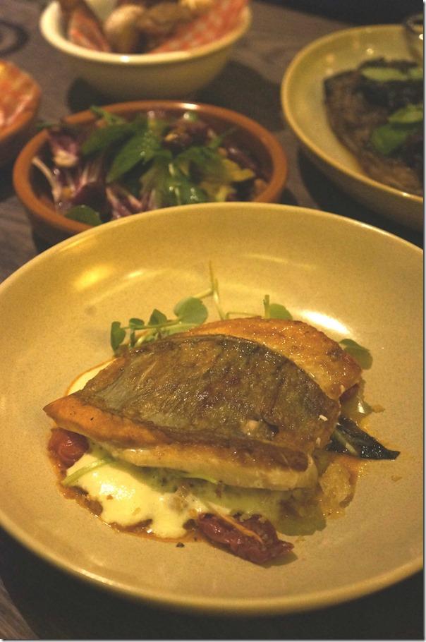 Pesce del giorno, fresh tomato, porcini sauce, truffle potato puree $36