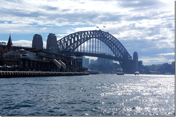 Sydney Harbour Bridge on a magnificent Sunday morning