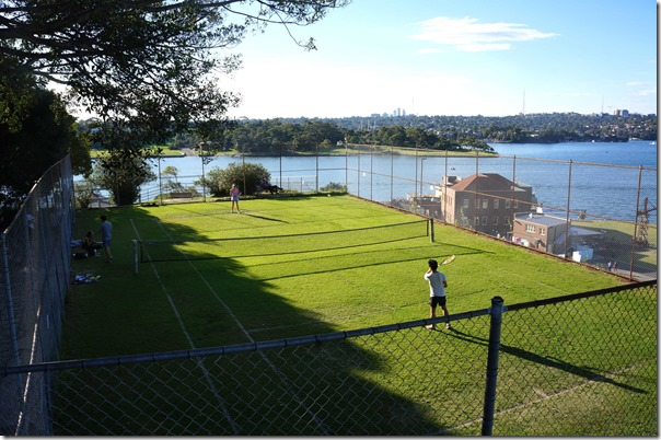Cockatoo Island lawn tennis court