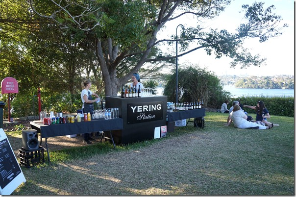 Open bar and wines of Yering station