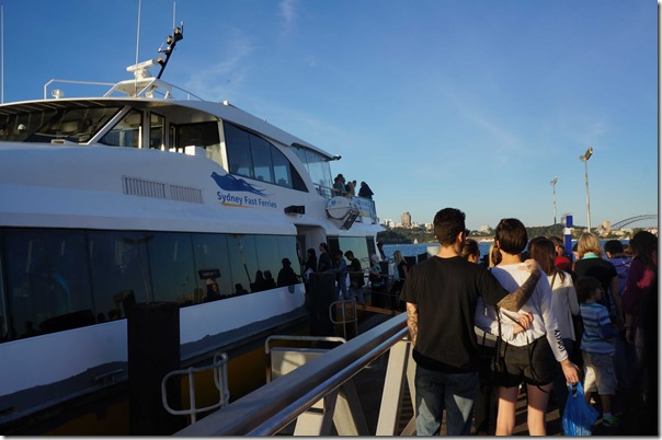 Boarding the rivercat home