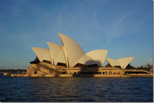 Sydney Opera House by twilight in autumn 2014