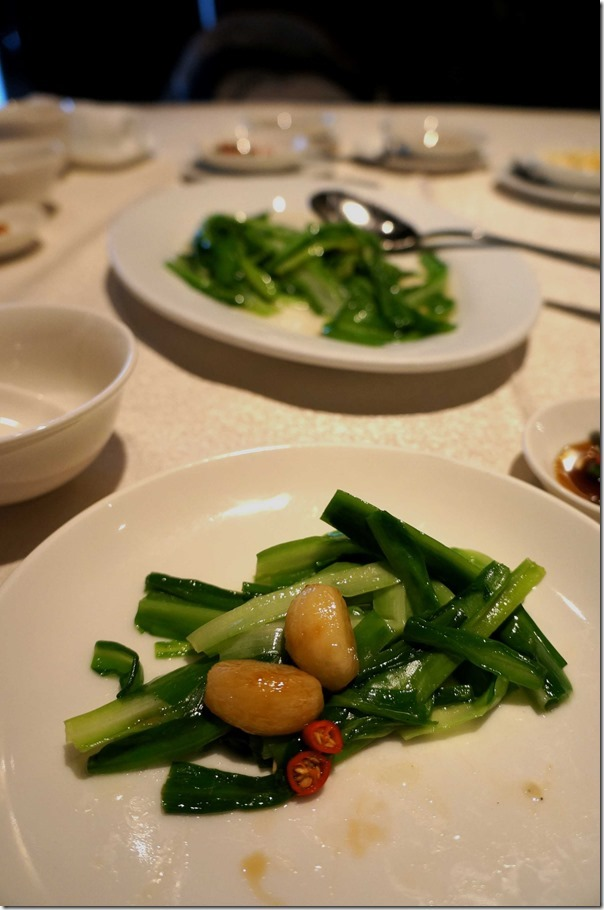 Stir-fried Qing Long Choy with garlic cloves RM20 or A$6.90