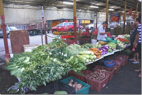 Fresh vegetables, Kuala Ampang Wet Market, Selangor