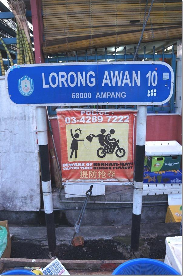 Beware of snatch thieves, Kuala Lumpur, Malaysia