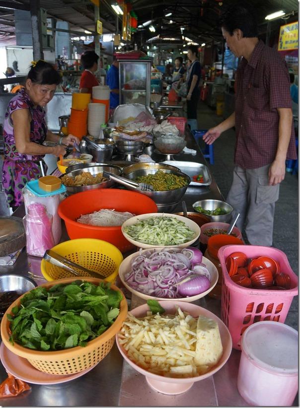 Ingredients for assam laksa, Madras Lane, Kuala Lumpur