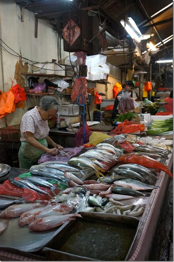 Fresh fish stall, Petaling Street, Kuala Lumpur