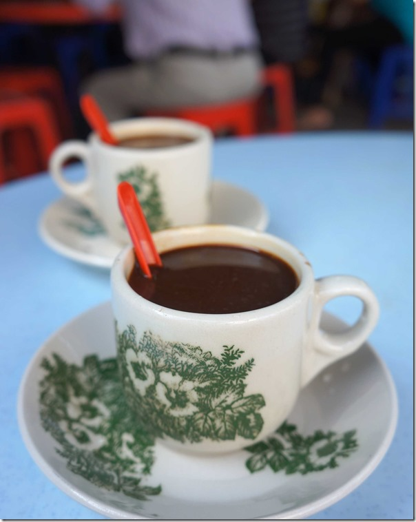 Malaysian style kopi or hot coffee with sweetened condensed milk RM2.50 or A$0.86