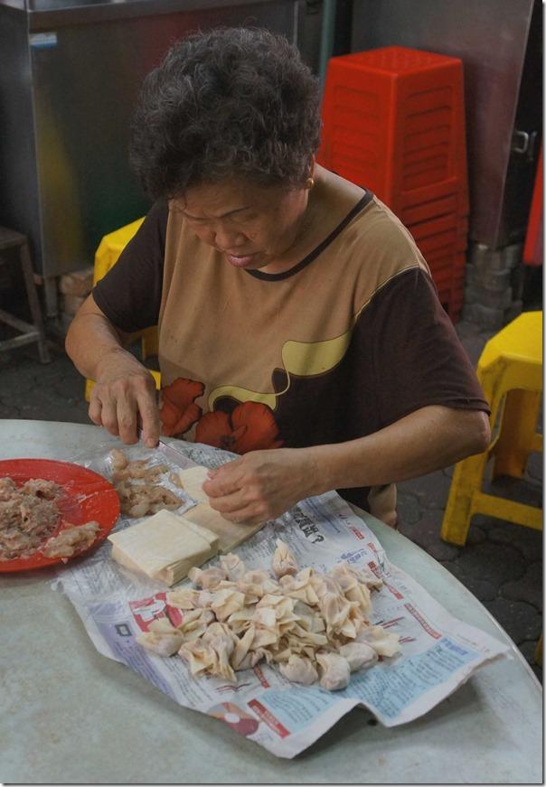 Preparing wantons, Petaling Street, Kuala Lumpur
