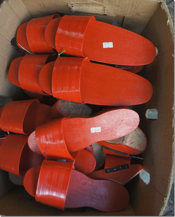 Red clogs RM10 / A$3.45 per pair