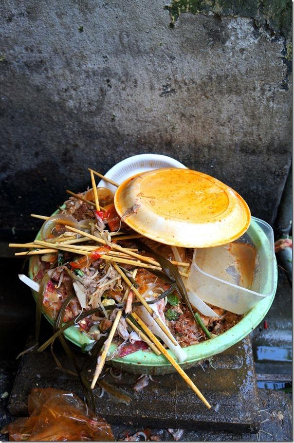 Wet rubbish, Jalan Imbi Market, Kuala Lumpur