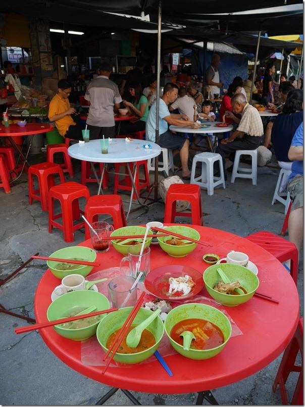 Seating area, Madras Lane, Kuala Lumpur