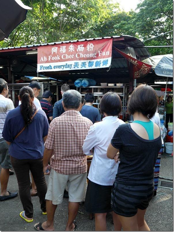 Queuing up for Ah Fook Chee Cheong Fun, Jalan Imbi Market, Kuala Lumpur