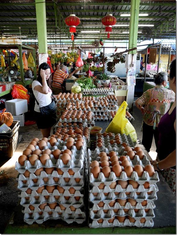 Fresh hens' eggs, Jalan Imbi Market