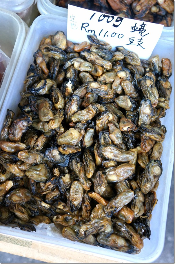 Dried oysters RM11 per 100gm or A$3.80 per kg