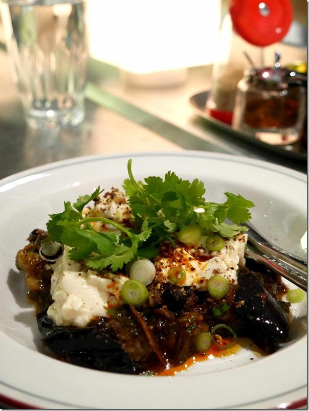 Spicy braised eggplant, housemade tofu $15
