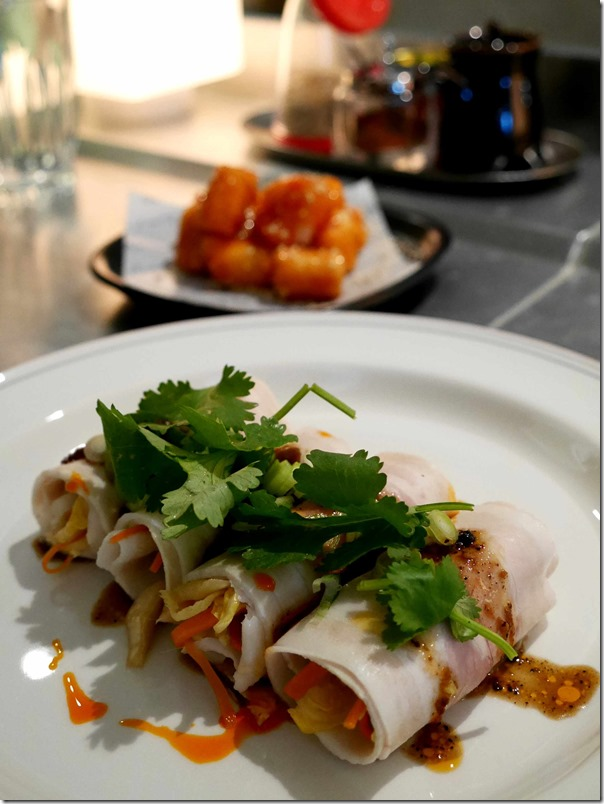 Cold rolled pork belly, white kimchi, Yuxiang sauce 4 pieces $16