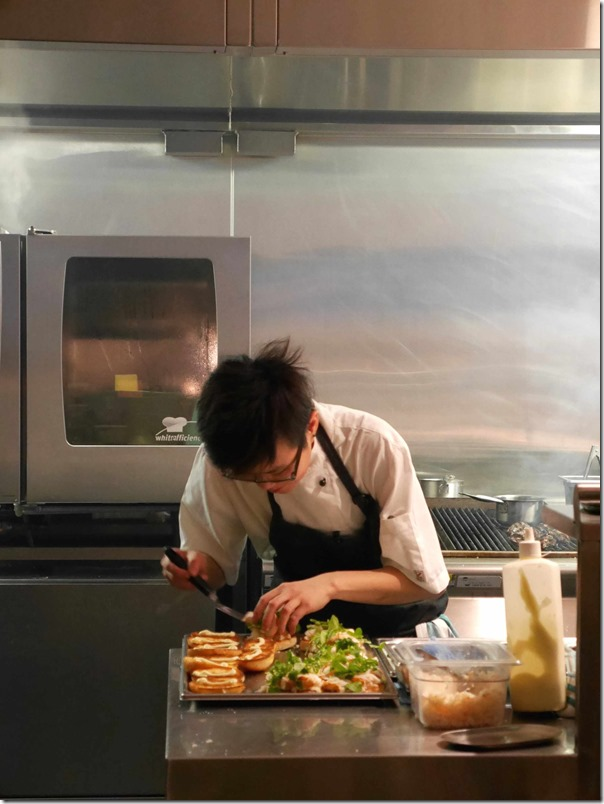 Young chef preparing Supernormal's New England lobster roll
