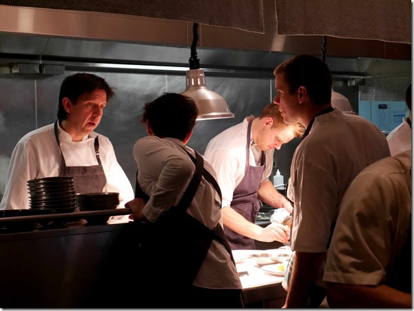 At the helm ~ Chef Andrew McConnell supervising his kitchen brigade