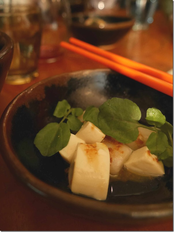 Warm scallop, silken tofu & soy butter $7