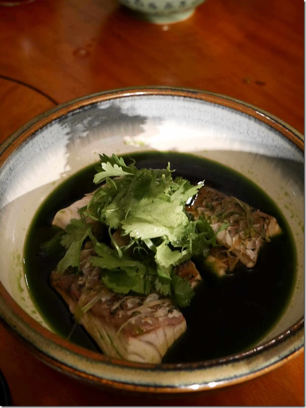 Steamed Cone Bay barramundi with ginger and shallot sauce $32