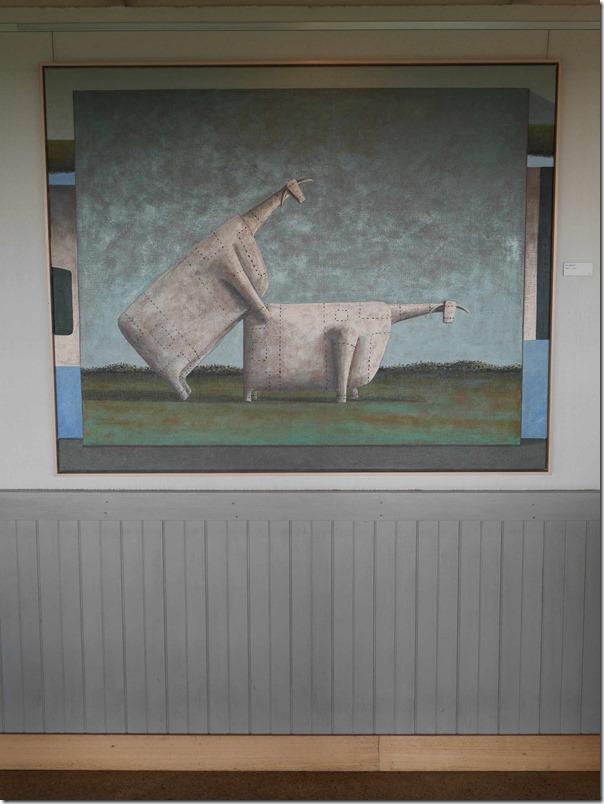 Artwork at Cellar door cafe, Yabby Lake wines, Mornington Peninsula, Victoria