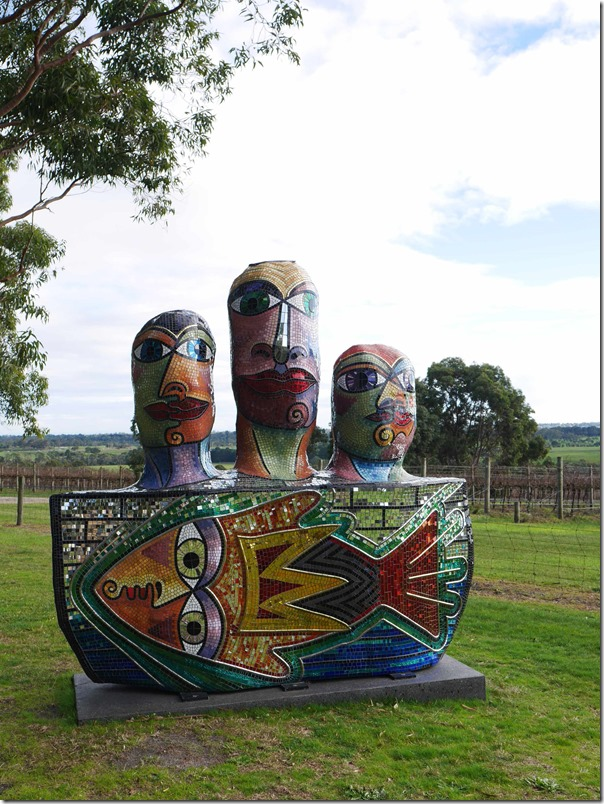 Sculpture on the grounds of Yabby Lake wines, Mornington Peninsula, Victoria