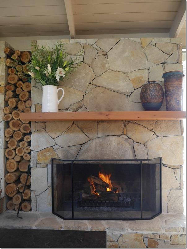 Fireplace at Yabby Lake Vineyard, Mornington Peninsula, Victoria
