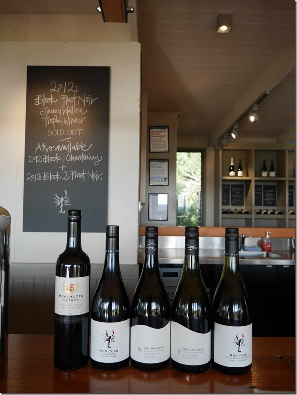 Red Claw, Heathcote Estate & Yabby Lake wines, Mornington Peninsula, Victoria