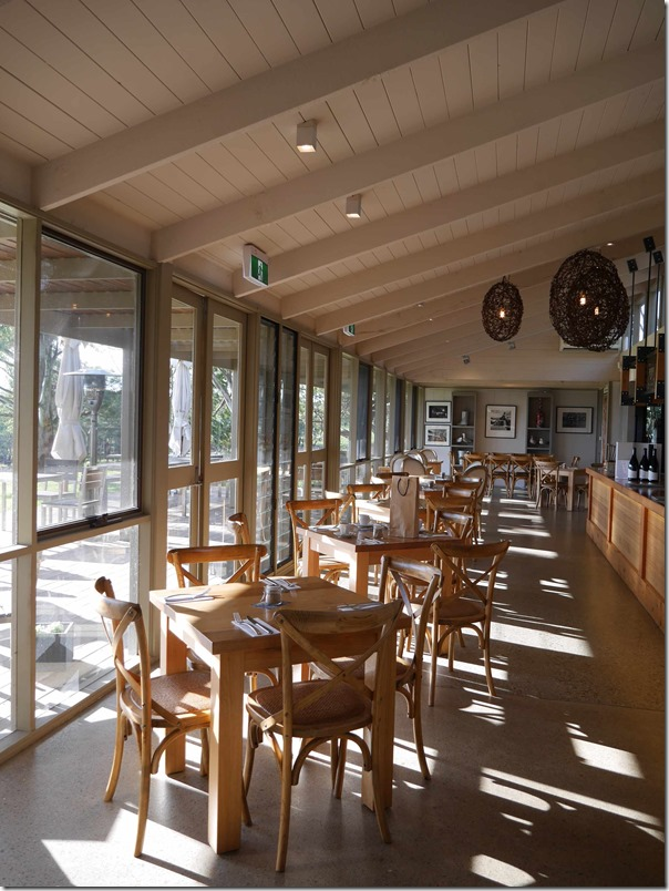 Dining room, Cellar door cafe, Yabby Lake wines, Mornington Peninsula, Victoria