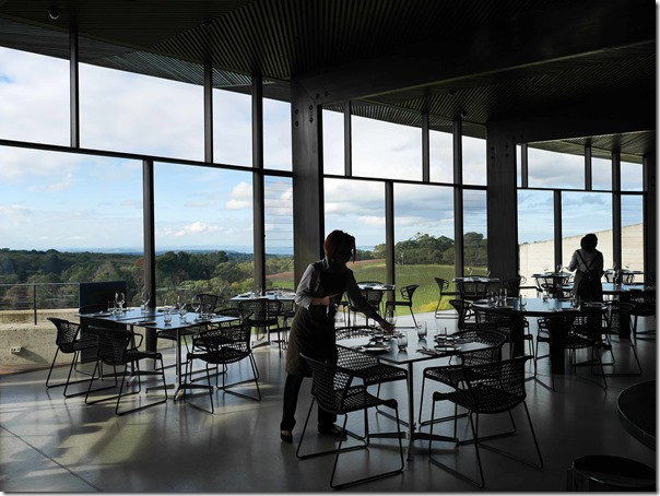 Dining room at Port Phillip Estate 263 Red Hill Road Red Hill South Mornington Peninsula