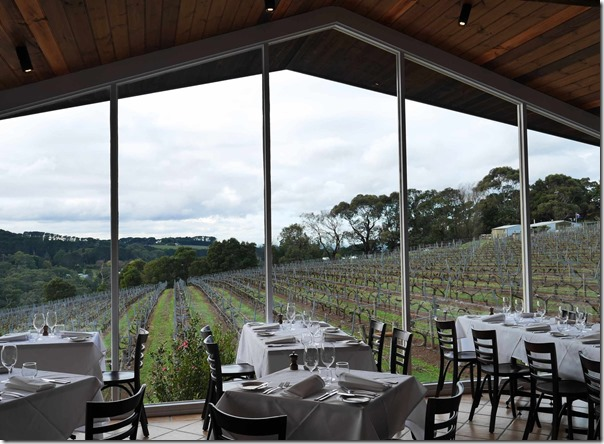 Dining room at Paringa Estate Winery, Red Hill South Mornington Peninsula, Victoria