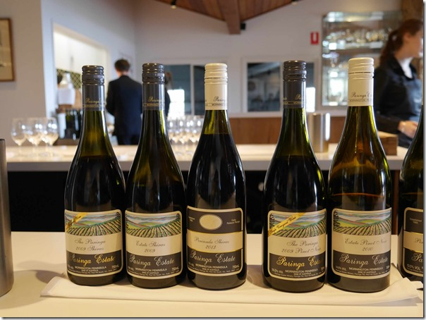 Prized range of pinot noir of Paringa Estate Winery, Red Hill South Mornington Peninsula, Victoria