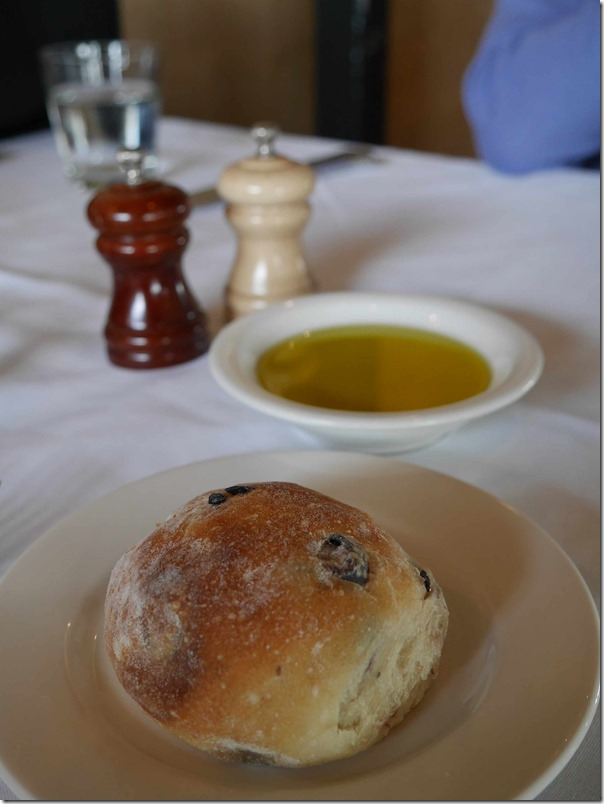 Olive bread and olive oil