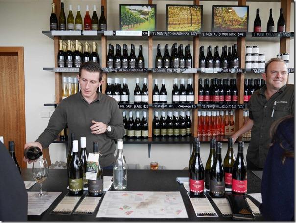 Wine tasting at Cellar door at Montalto Vineyard & Olive Grove, Red Hill South, Mornington Peninsula, Victoria