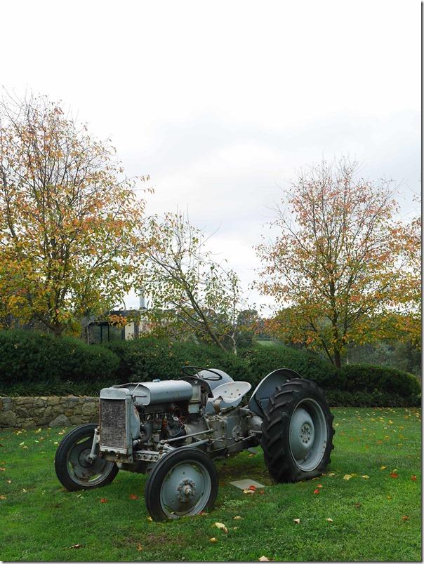 An old tractor at Ten Minutes By Tractor 1333 Mornington Flinders road Main Ridge, Mornington Peninsula, Victoria
