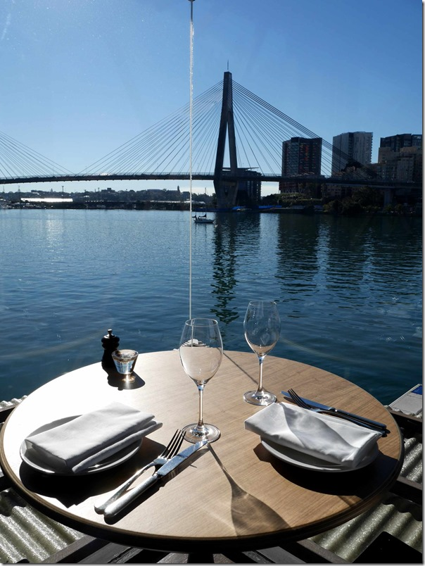 A view of Backwattle Bay and the ANZAC bridge from the dining room
