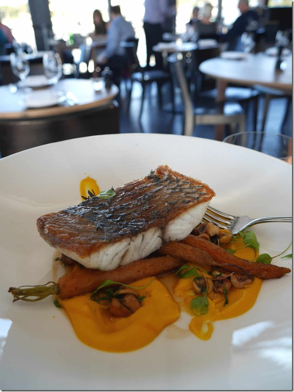 Roast Cone Bay barramundi $41