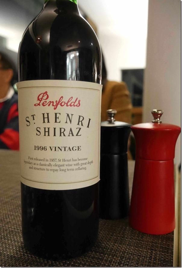 1996 Penfolds St. Henri Shiraz