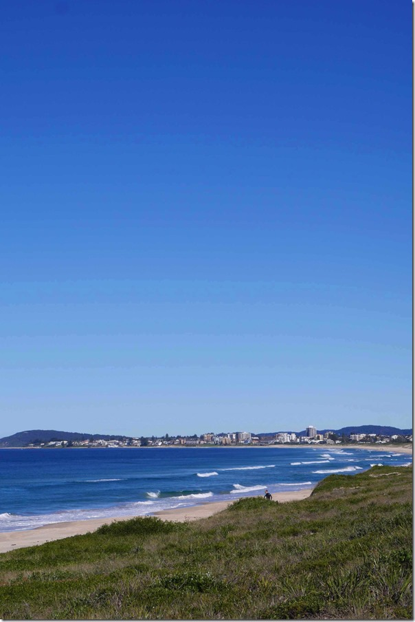 Tuggerah beach with North Entrance in the horizon, Central Coast, New South Wales