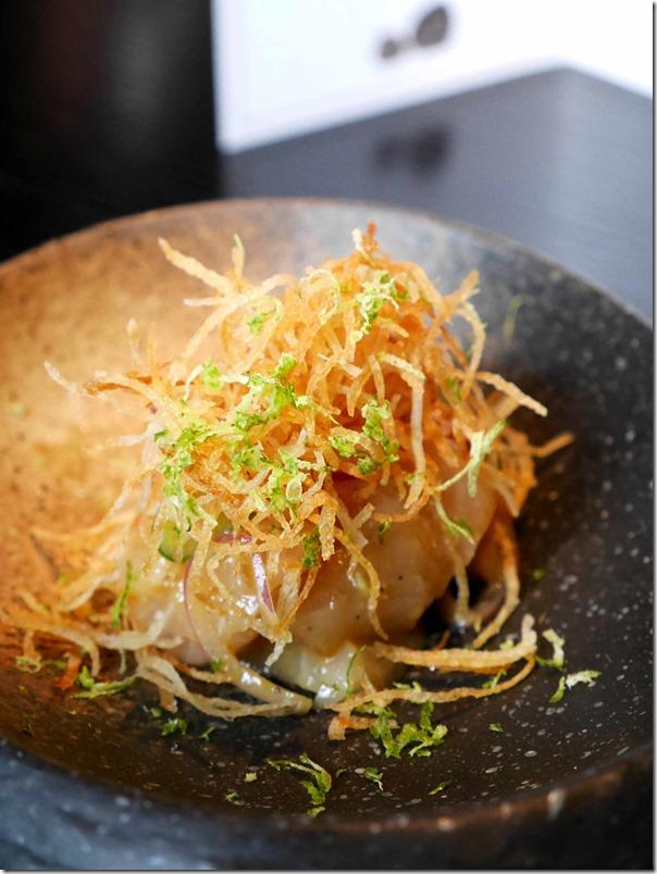 Kingfish miso ceviche $20