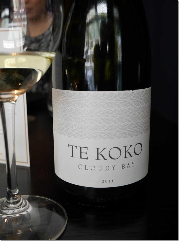 2011 Te Koko Cloudy Bay Sauvignon Blanc $110